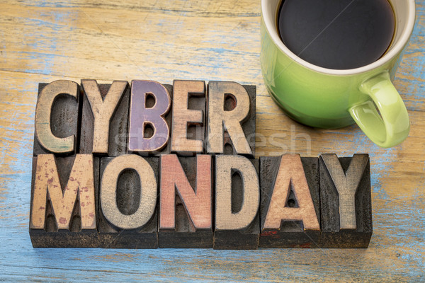 Cyber Monday in wood type Stock photo © PixelsAway