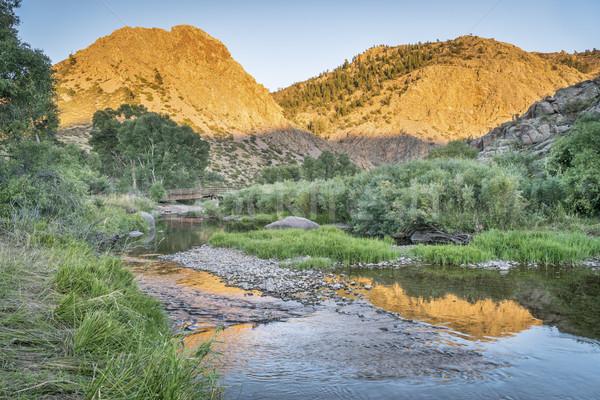 Eagle Nest Rock and Poudre RIver Stock photo © PixelsAway