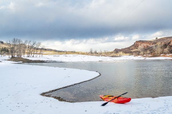 winter kayaking in Colorado Stock photo © PixelsAway
