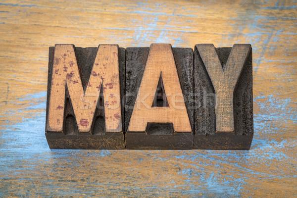 месяц Vintage древесины тип Гранж Сток-фото © PixelsAway