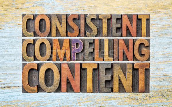 Consistente conteúdo palavra abstrato recomendação Foto stock © PixelsAway