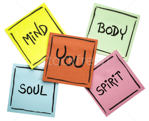 you, body, mind, soul, and spirit - sticky note set Stock photo © PixelsAway