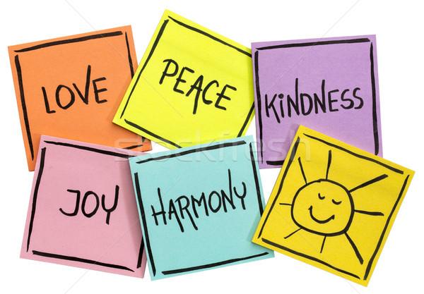 Miłości pokoju uprzejmość radości harmonia słońce Zdjęcia stock © PixelsAway