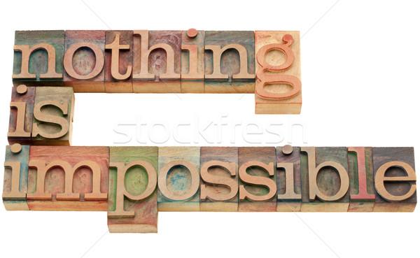 何も 不可能 モチベーション 孤立した 文字 ヴィンテージ ストックフォト © PixelsAway