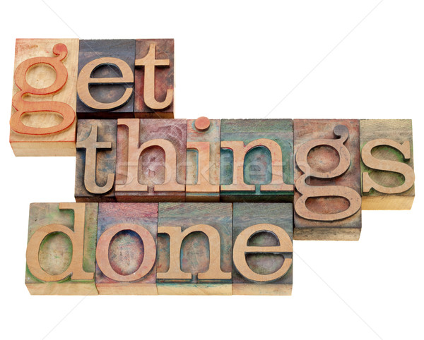 get things done Stock photo © PixelsAway