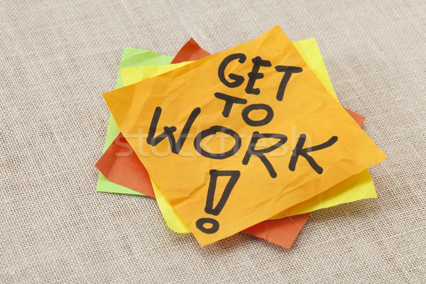 Get to work reminder Stock photo © PixelsAway
