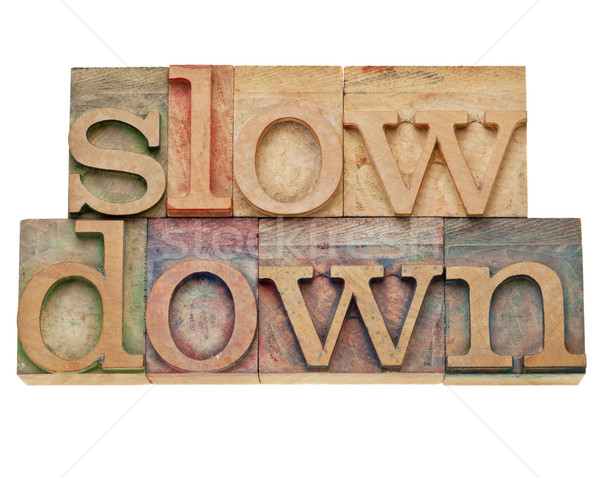 slow down -lifestyle concept Stock photo © PixelsAway
