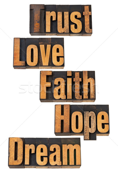 духовных слов доверия любви веры Сток-фото © PixelsAway