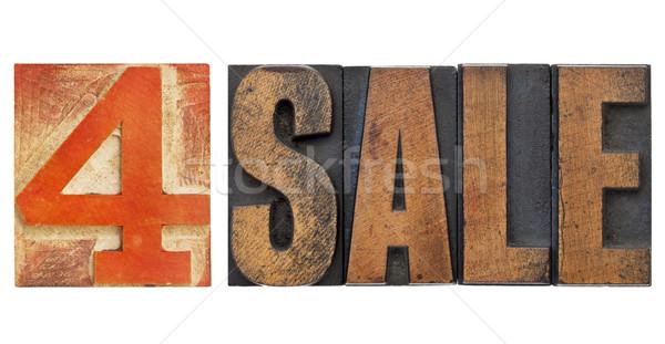 Vásár felirat magasnyomás izolált szöveg Stock fotó © PixelsAway