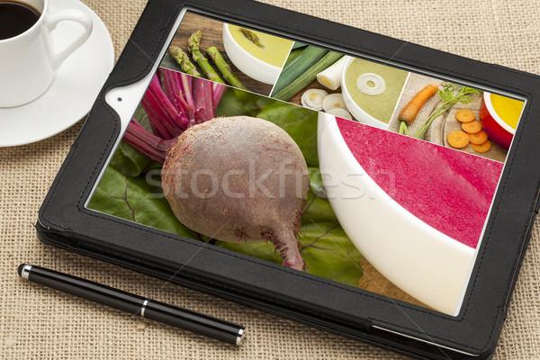 cream of vegetable soup Stock photo © PixelsAway