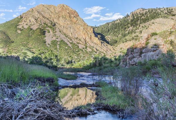 Eagle Nest Rock iand Poudre RIver Stock photo © PixelsAway