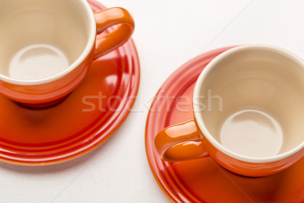 two stoneware coffee cups Stock photo © PixelsAway