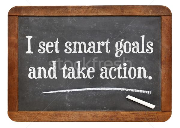 I set smart goals and take action Stock photo © PixelsAway