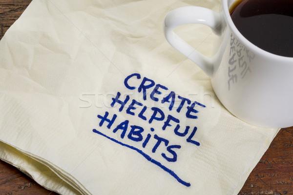 create helpful habits Stock photo © PixelsAway