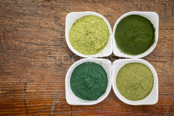 healthy green dietary supplements Stock photo © PixelsAway