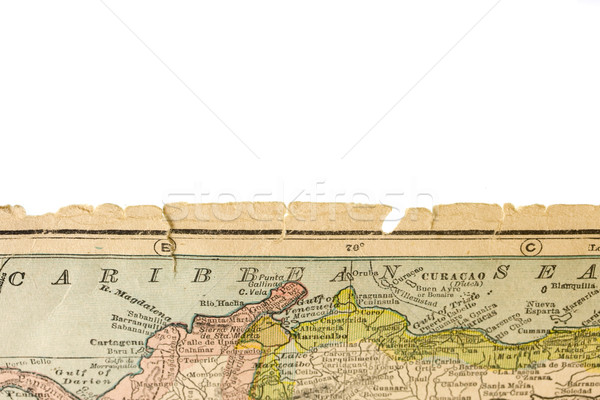 edge of antique map printed in 1926 - Caribbean Sea with Colombi Stock photo © PixelsAway