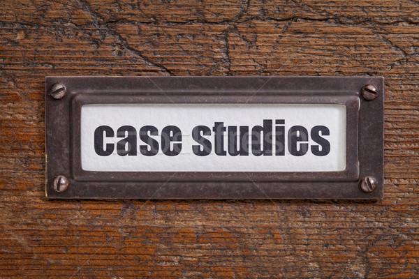 case studies  label Stock photo © PixelsAway