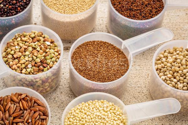Glutenvrij bruin rijst rustiek Stockfoto © PixelsAway
