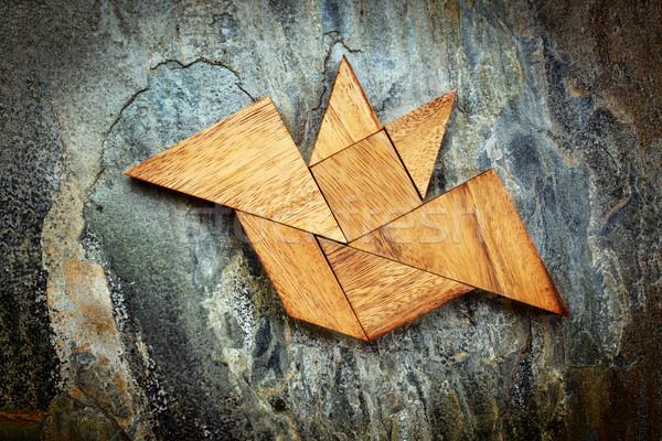tangram bat - Halloween concept Stock photo © PixelsAway
