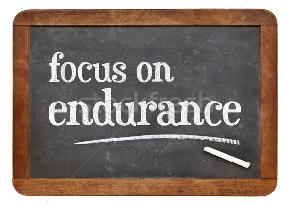 Accent endurance conseil tableau noir blanche craie Photo stock © PixelsAway