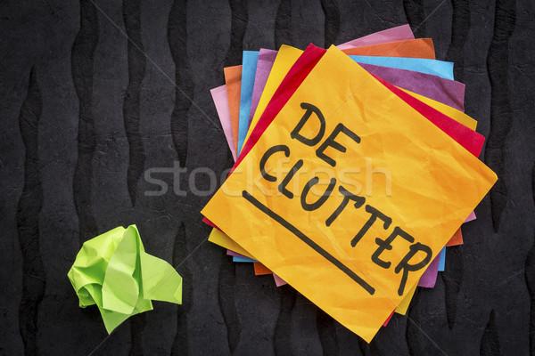 Lembrete conselho letra nota pegajosa preto limpar Foto stock © PixelsAway