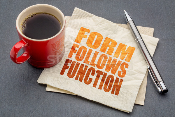 form follows function design principle Stock photo © PixelsAway