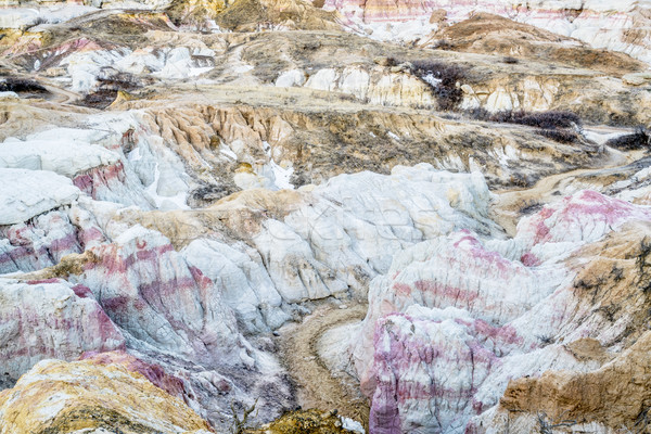 clay and sandstone erosion formations in Paint Mine Stock photo © PixelsAway