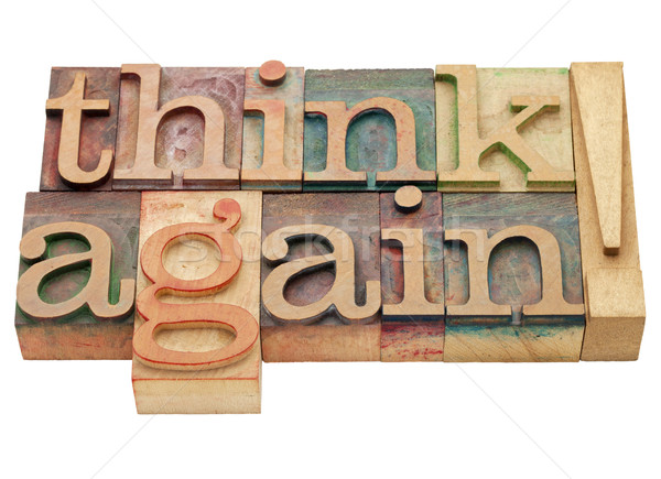 Stock photo: think again