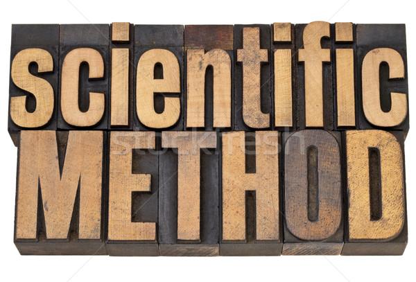 Wetenschappelijk methode hout type wetenschap geïsoleerd Stockfoto © PixelsAway