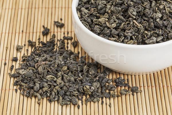 Buskruit groene thee los blad witte China Stockfoto © PixelsAway