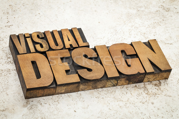 visual design in wood type Stock photo © PixelsAway