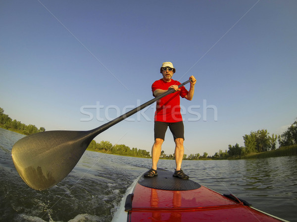 SUP - stand up paddling Stock photo © PixelsAway