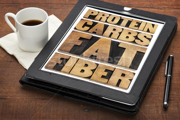 protein, carbs, fat and fiber  Stock photo © PixelsAway