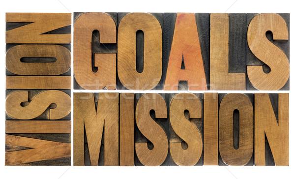 ストックフォト: ビジョン · ミッション · 言葉 · 抽象的な · コラージュ
