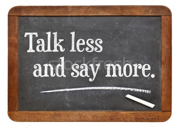 говорить меньше больше совет Vintage образование Сток-фото © PixelsAway