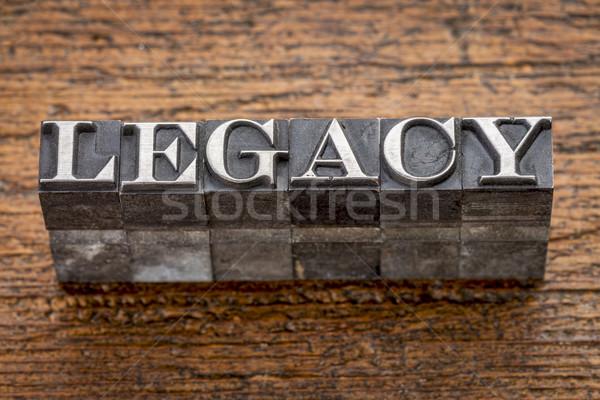 Dziedzictwo słowo metal typu mieszany vintage Zdjęcia stock © PixelsAway