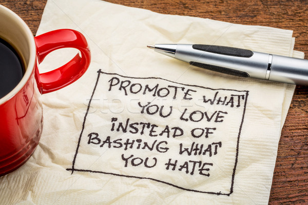 Promote what you love on napkin Stock photo © PixelsAway
