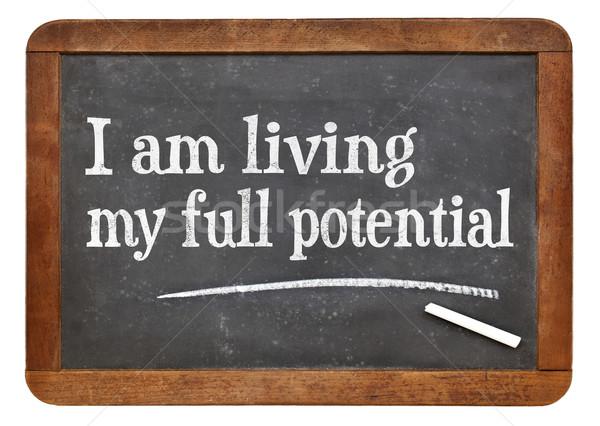 Wonen mijn vol potentieel positief Stockfoto © PixelsAway