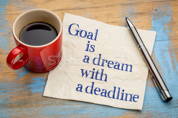 goal is a dream with deadline Stock photo © PixelsAway