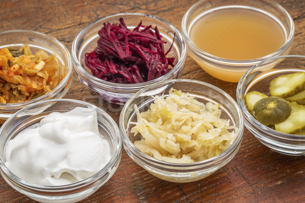 fermented food collection Stock photo © PixelsAway