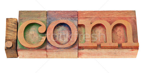 internet commercial domain  in wood fonts Stock photo © PixelsAway
