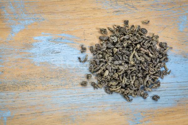 Chá verde solto folha chinês pólvora pérola Foto stock © PixelsAway