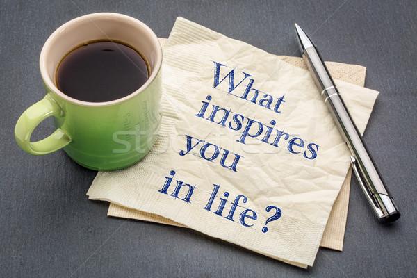 What inspires you in life? Stock photo © PixelsAway