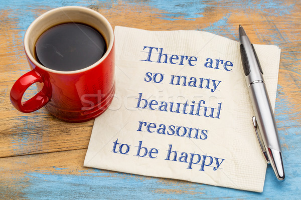 There are some many beautiful reasons to be happy Stock photo © PixelsAway