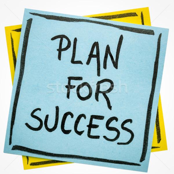 Terv siker motivációs jegyzet emlékeztető kézírás Stock fotó © PixelsAway