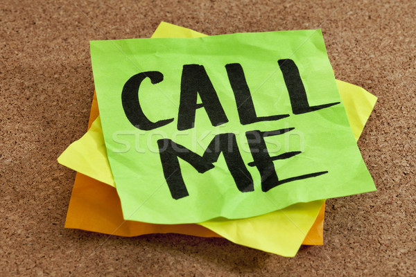 call me on sticky note Stock photo © PixelsAway