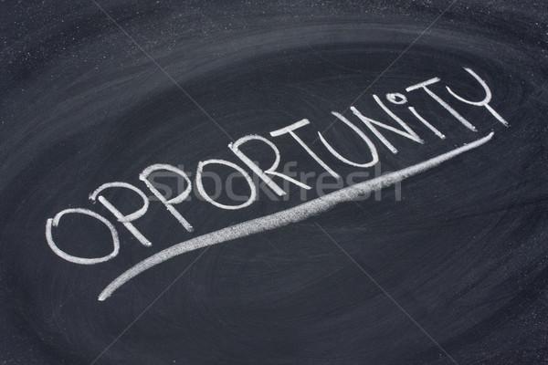 opportunity, word on blackboard Stock photo © PixelsAway