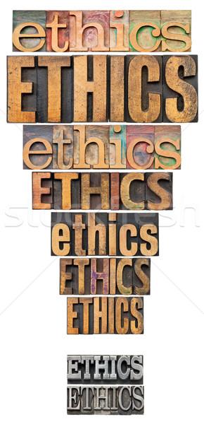 Etyka punkt słowo streszczenie formularza kolaż Zdjęcia stock © PixelsAway
