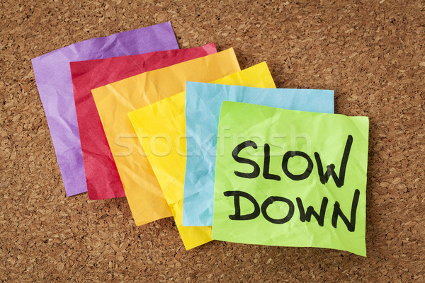 slow down - lifestyle concept Stock photo © PixelsAway