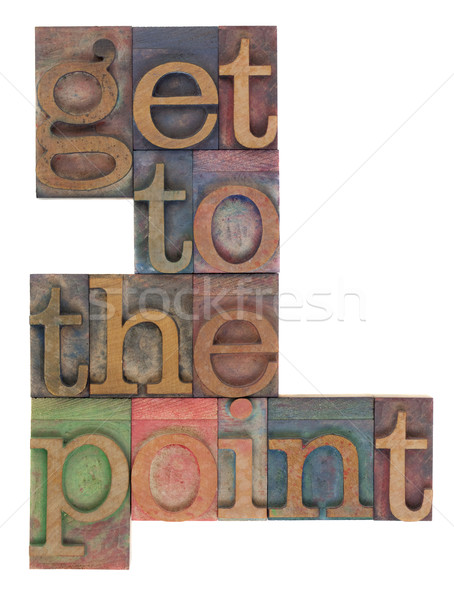 Foto stock: Ponto · palavras · vintage · impressão